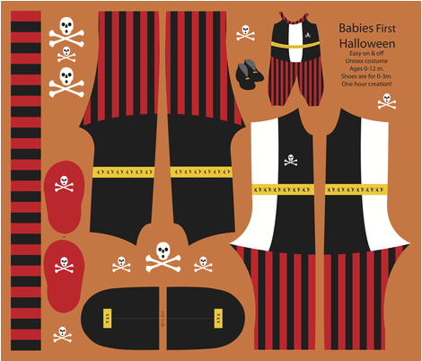 Baby Pirate Costume 2013 fabric by nikky on Spoonflower - custom fabric