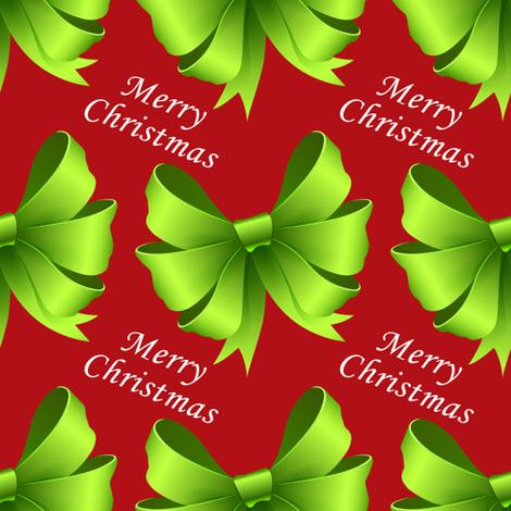 Merry Christmas Bows fabric by lesrubadesigns on Spoonflower - custom fabric