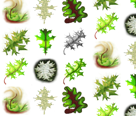 Study of a Cottonwood Leaf in Nine Variations fabric by studiobien on Spoonflower - custom fabric