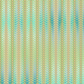 feathered stripes green blue sand 2