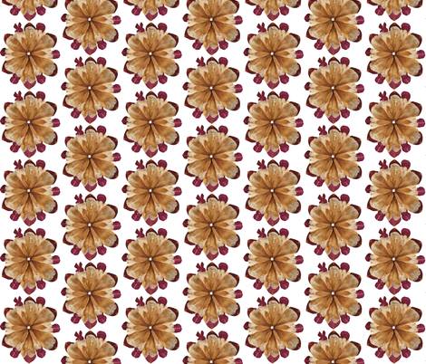 Flower Petal Mandala Composition: Lilies and Roses fabric by michellebiendesign on Spoonflower - custom fabric