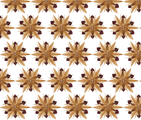 Pressed Flower Petal Composition fabric by michellebiendesign on Spoonflower - custom fabric
