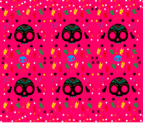 Mexican ghost fabric by amonita on Spoonflower - custom fabric