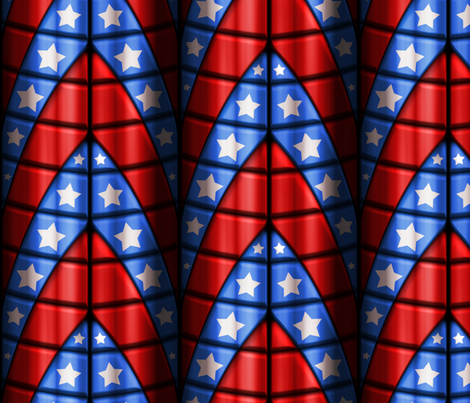 Superhero suits - Red, Blue, White Stars fabric by bonnie_phantasm on Spoonflower - custom fabric