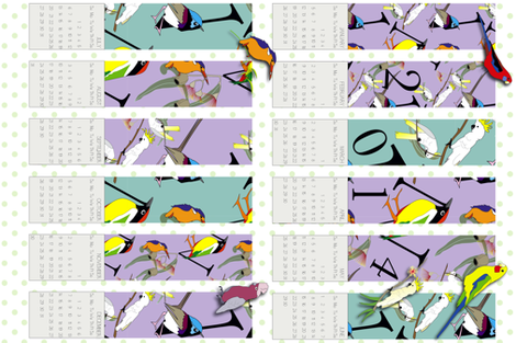 2014 Bird Type Calendar fabric by fiona_sinclair_design on Spoonflower - custom fabric