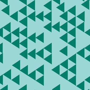 triangles two tone teal
