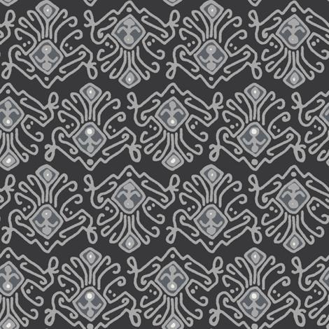pewter saffron fabric by scrummy on Spoonflower - custom fabric