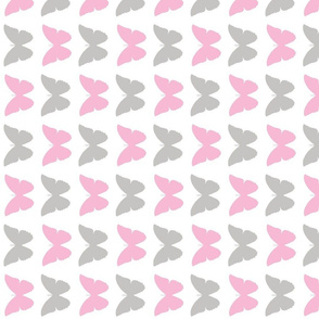 baby pink and gray butterflies