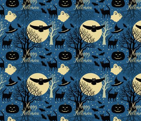 Happy Halloween fabric by nenilkime on Spoonflower - custom fabric