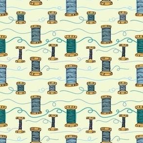Thread blue background