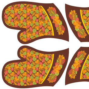 Falling Leaves Oven Mitts