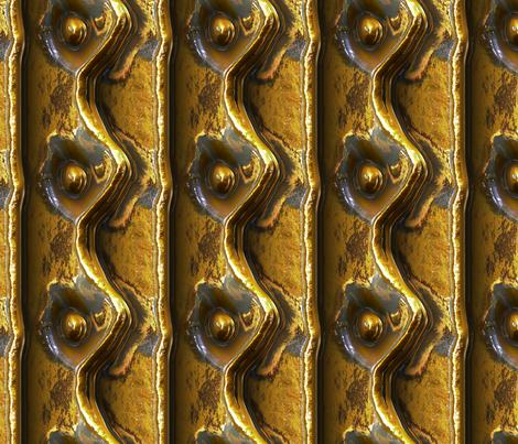 Riveted Metal - Brass fabric by bonnie_phantasm on Spoonflower - custom fabric