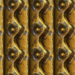 Riveted Metal - Brass