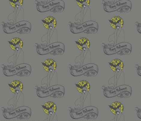 Ghosts_large repeat fabric by kfrogb on Spoonflower - custom fabric