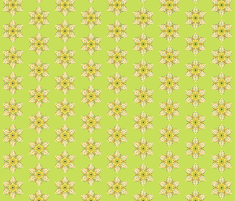 Spring Daffodil Abstract fabric by anderson_designs on Spoonflower - custom fabric