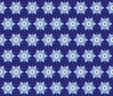 Winter Snowflakes Abstract fabric by anderson_designs on Spoonflower - custom fabric