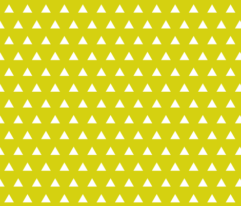 citron triangles fabric by ivieclothco on Spoonflower - custom fabric