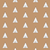 white teepee on tan