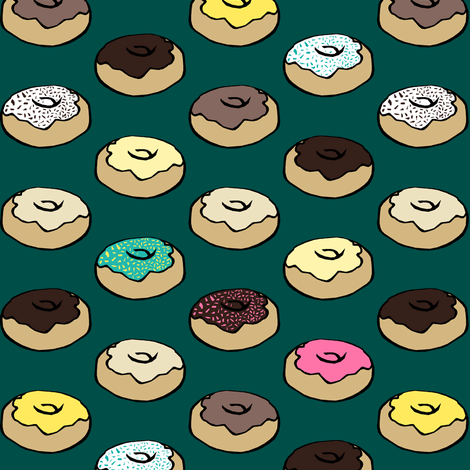 Donuts fabric by pond_ripple on Spoonflower - custom fabric