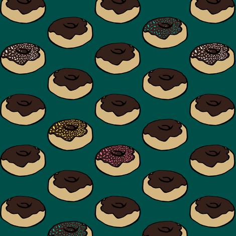 Chocolate Donuts fabric by pond_ripple on Spoonflower - custom fabric