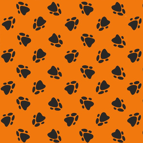 Pawprints Orange