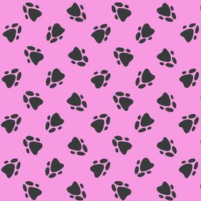 Pawprints Pink
