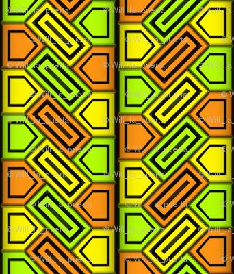 Penta Pattern Yellow