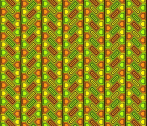 Penta Pattern Yellow fabric by will_la_puerta on Spoonflower - custom fabric