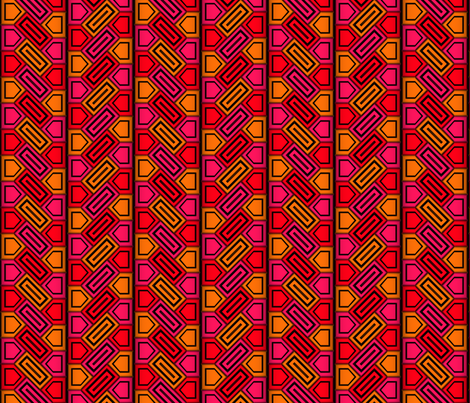 Penta Pattern Red fabric by will_la_puerta on Spoonflower - custom fabric