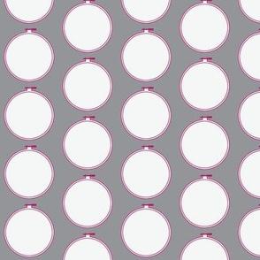 Hoop | Gray with Jawbreaker Pink