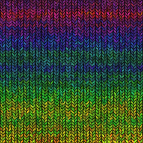 Custom Knit Fabric : Large Rainbow Knit fabric - bonnie_phantasm - Spoonflower