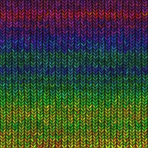 Large Rainbow Knit