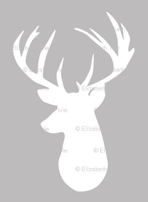 gray deer head