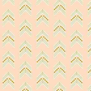 blush gold chevron small