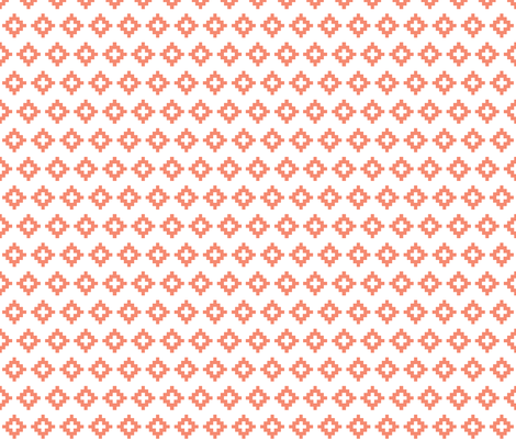 coral aztec fabric by ivieclothco on Spoonflower - custom fabric