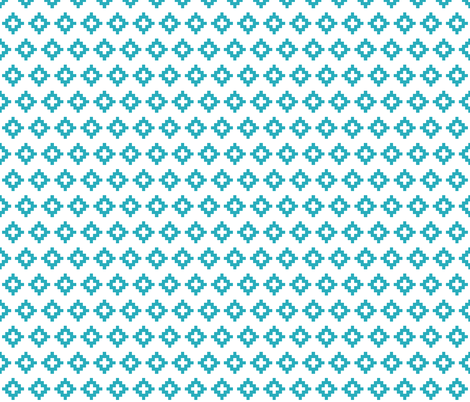 turquoise aztec fabric by ivieclothco on Spoonflower - custom fabric
