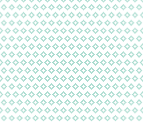 aqua aztec fabric by ivieclothco on Spoonflower - custom fabric
