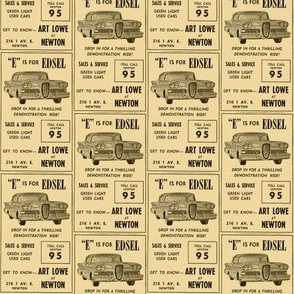 E is For Edsel 1958 Ranger Pacer advertisement