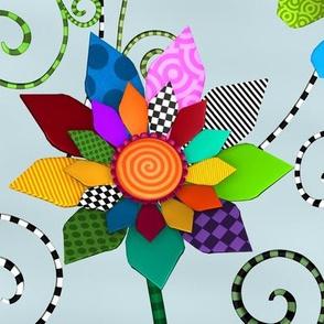 Whimsical Flowers - Allover