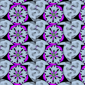 pattern purple flower-ed