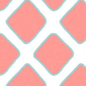 Lattice in Coral and Aqua