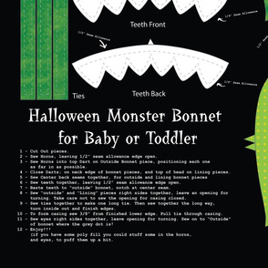Halloween Monster Bonnet