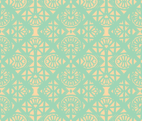 Whispers - Mint Jelly and Clotted Creme fabric by susaninparis on Spoonflower - custom fabric