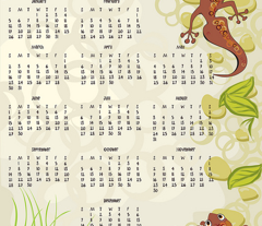 2015 gecko calendar teatowel