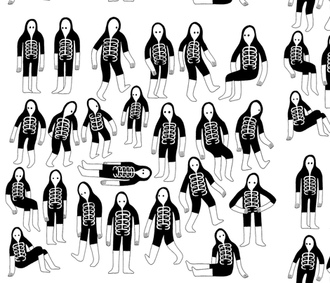 ghostly fabric by jamelshabazz on Spoonflower - custom fabric