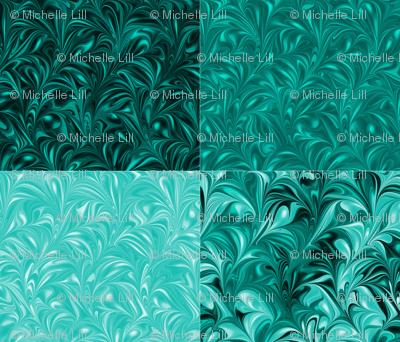 Aqua Swirl Set