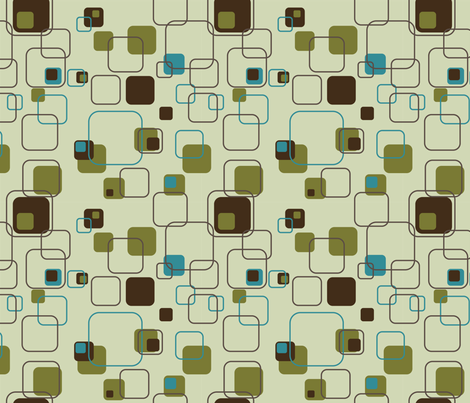 Groovy Cubes - 9in (teal) fabric by studiofibonacci on Spoonflower - custom fabric