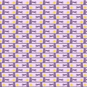 Mini Zooming Flyball dog border - purple