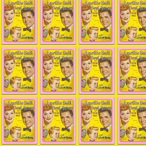 I Love Lucy Paper Dolls-Yellow and Pink