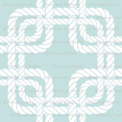 Rope squares blue
